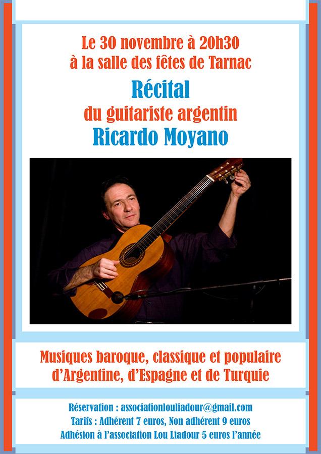 30 novembre 2017 – Récital RICARDO MOYANO