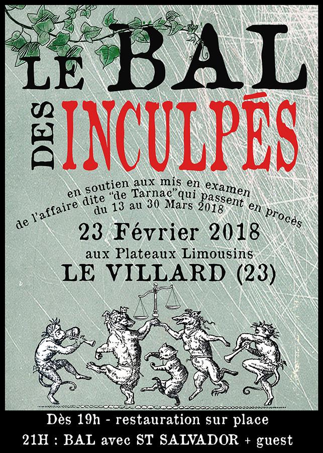 23 février 2018 – bal de soutien aux inculpés – Le Villard